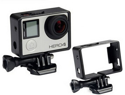 Go pro Projector Accessories Frame Camera Standard Protective Shell Mount for gopro hero 3 4 (Color: Black)