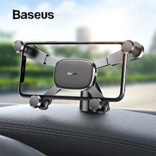 Baseus horizontal screen gravity car holder 360° rotating instrument center console sticky car phone holder