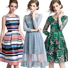 f3da3950eee Promotions High quality dress elegant dress European British style Office  dresses Long
