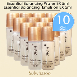 Concentrated Ginseng Renewing  2items 5ml*10set(Water 5ml*10pcs(50ml)+Emulsion 5ml*10pcs(50ml)