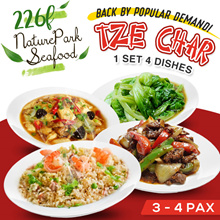 4 DISH TZE CHAR SPECIAL PROMO 3~4 PAX (BACK BY POPULAR DEMAND!)