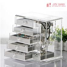 Acrylic jewelry cosmetics organizer necklace earrings Organizer Makeup box Transparent Storage