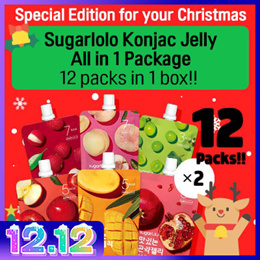 ★Christmas Limited Edition★[INTAKE] Sugarlolo Konjac Jelly All in 1 Package - 12packs / Low Calorie