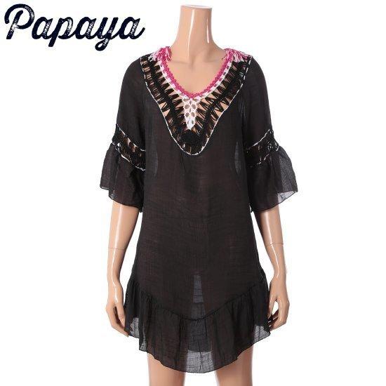 パパイヤボヘミアンワンピースCNHROP051B 面ワンピース/ 韓国ファッション