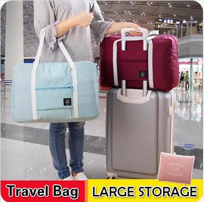 buy 5 in 1 shipping/ Travel bag storage bag large capacity short shoulder bag female waterproof folding bag Deals for only RM17 instead of RM17