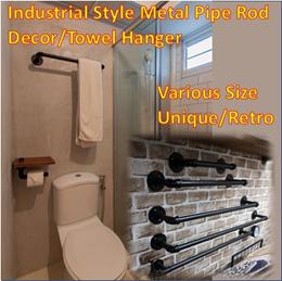 Industrial Style Metal Pipe Towel Hanger/ Water Pipe Decoration Hook/ Barn Door Handle/ Pipe Shelf