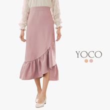 YOCO - Asymmetrical Ruffled Skirt-180136