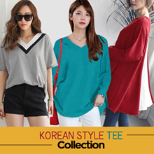 [PLUS SIZE] KOREA STYLE ★COLOR MIX MATCH TEE COLLECTION / SUPER SOFT SPANDEX