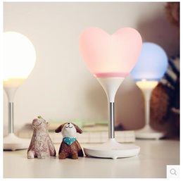 Life up / romantic atmosphere silicone heart - shaped balloon lights USB charging touch light - emit