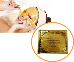 5 Pcs Gold Bio Crystal Collagen Facial Face Mask - Whitening Moisturizing Anti-Wrinkles Oil Control