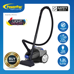 PowerPac Light Weight Vacuum Cleaner with 1200Watts ( PPV1412)