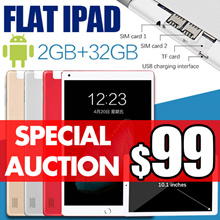 Special activity price、$99、Only one day 、Ultra-thin 10.1 inch flat panel iPad、2GB runs +32GB、Support