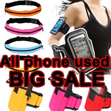 BIG SALE!HOT Sports Running Bicycle Arm Band Bag Pouch CaseFor iPhone5/5s/HTC M7 M8 T6/Sony Xperia Z2 Z1/S5/S3/Note2/M3/M2S/Redmi/Redmi Note/Note3 iPod tocuh Good Quality Cover Case Zipper Two Bags