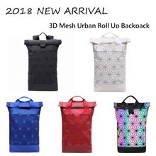 WORTH THE HYPE: New and Edgy Sporty Casual 3D Mesh Urban Roll Up Backpack. Local Seller. Ready Stock
