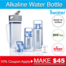 ★10% Coupon★ [Made in Korea] i-Water Alkaline water ionizer Bottle ★ BPA Free ★ Water Purifier