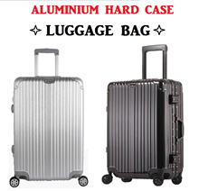 * 2017 [ BUY 1 GET 1 FREE GIFT ] Hard Case Trolley Luggage Aluminium Alloy Frame PC Travel Luggage