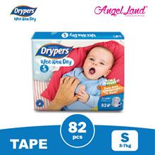 Drypers Wee Wee Dry Super Jumbo S82/M74/L62/XL50/XXL40 (1 Pack)