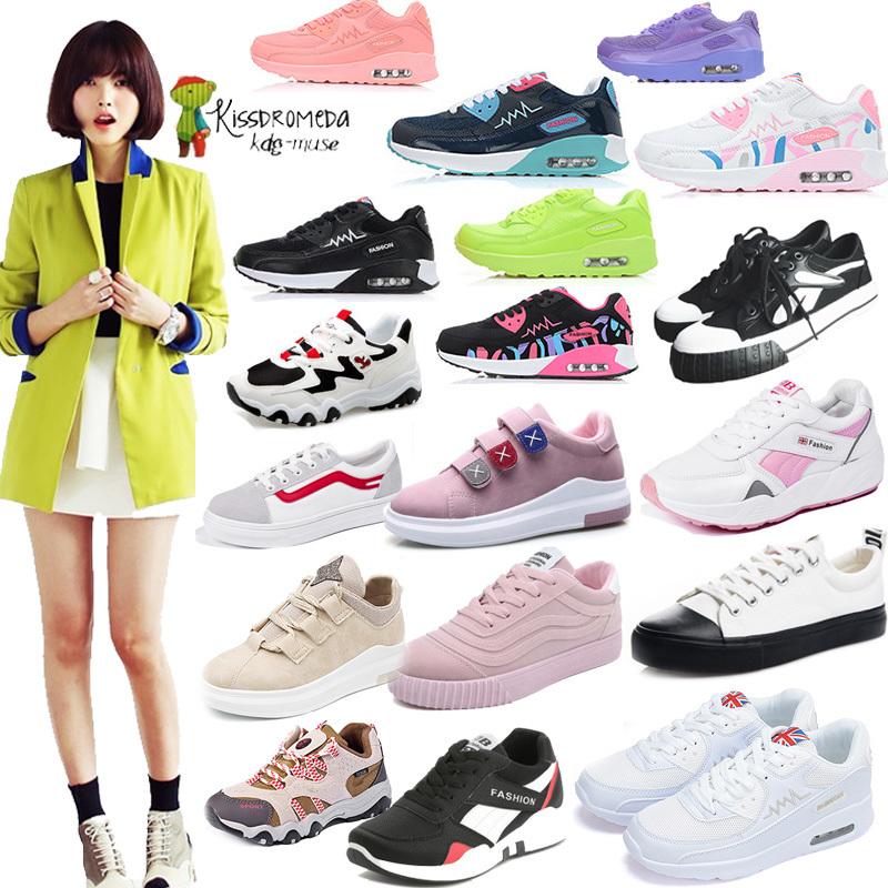 Qoo102018新人荷! 韓国ファッション レディース ローカットキャンバス スニーカー靴 カジュアル ア シューズ サイズ:22.5-25cm/学生靴/ 厚底スニーカーウォーキングシューズ 運動靴スニ