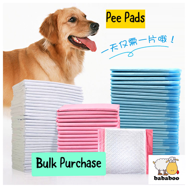 4 PACKS Pee Pads S/M size Bulk Sale Dogs Cats Toilet Train Diapers Highly Absorbent Deals for only S$199 instead of S$0