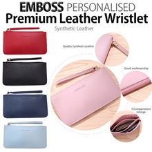[Christmas GIFT]♥Personalised EMBOSS LEATHER V3 WRISTLET♥ phone pouch wallet Unisex BEST GIFT IDEA!