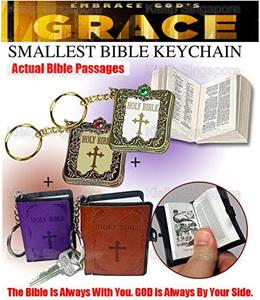 World Smallest Bible Miniature Holy Bible Religious Christian Jesus Gospel Mini Holy Bible Key Chain