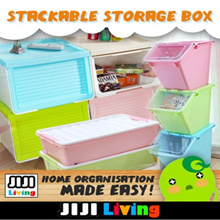 Stackable Storage Box! Plastic PP Material! Organizer | Cabinet | Kitchen Rack | Furniture