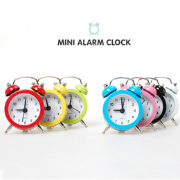 SWEET MANGO] CNG Mini Alarm Clock - [ Small Size Table Watch Round Alarm Basic Design Decoration ]
