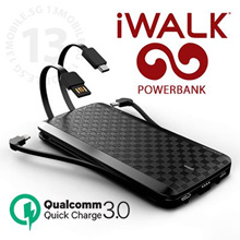 LOWEST PRICE ★ iWalk Scorpion Ultra Thin PowerBank 12000mAh Portable QC3.0 Wireless Charger
