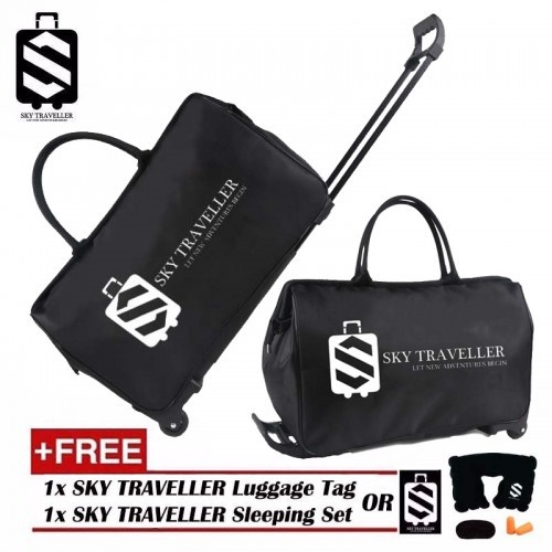 SKY TRAVELLER SKY301 Trolley Travel Bag Casual Hand Luggage Rolling Suitcase Wheels Carry On Luggage Deals for only RM45.58 instead of RM45.58