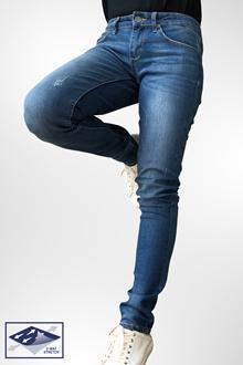 190795dabd6 D.STRETCH dENiZEN Women Skinny Denim Jeans Blue Heron