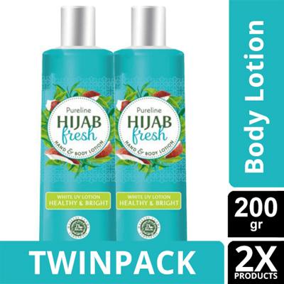 TWINPACK - PURELINE HIJAB FRESH WHITE UV HEALTHY AND BRIGHT 200ML