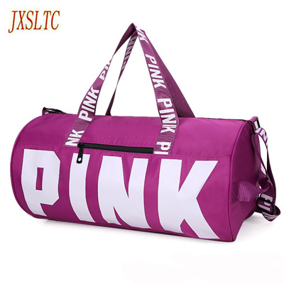 1bd27176c6 JXSLTC pink girl travel duffel bag women Travel Business Handbags Victoria  beach shoulder bag large
