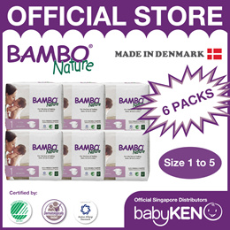Bambo Nature Eco-Friendly Baby Diapers (6 Packs)