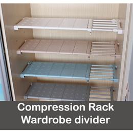 Adjustable Closet Organizer Storage Shelf Wall Mounted Kitchen Rack Space Saving Wardrobe Decorative