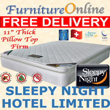 Sleepy Night Hotel Limited Edition with 3inch Pillow Top Mattress.Firm and good support. King/Queen/Super Single/Single sizes. FREE AND FAST DELIVERY !!