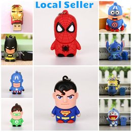 Marvel Thumbdrive Batman Ironman Minion Doraemon Stitch Presents Gifts (Free 1 Month Warranty)