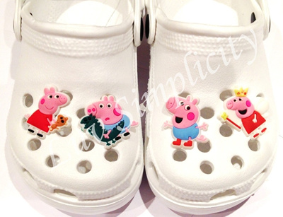 Luv Simplicity」- Jibbitz Charms for wristbands / shoes / Peppa Pig