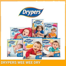 Drypers Wee Wee Dry (S82 / M74 / L62 / XL50 / XXL40) x2 Packs **RM46.75 after 15% cart coupon**