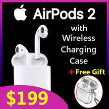 [Wireless Charging Ver.] Gen 2 Apple AirPods 2 with Wireless Charging Case