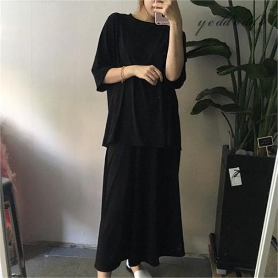 はいトト行き来するようにはいトトクウルセット プリントのワンピース/ 韓国ファッション
