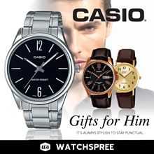 [CHEAPEST IN SG] GIFTS FOR HIM! CASIO Leather N Stainless Steel Watches for Men. Free Shipping!