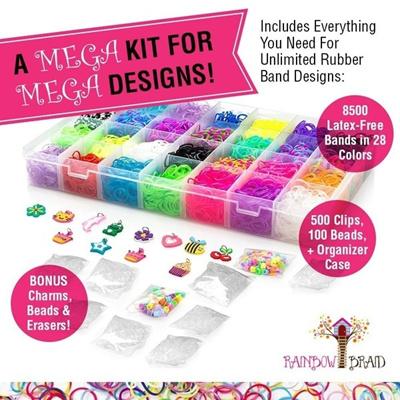 8688cfd4a4ad search. 14700+ Premium Rainbow Loom Bands Mega Refill Kit W  30+ Bright  Colors 13900