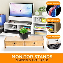 Monitor stand/shelf/dual/keyboard storage/Computer Accessories/Posture Correction/Vertebrae