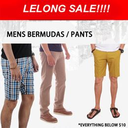 LELONG SALES*MENS BERMUDAS*PANTS*JEANS