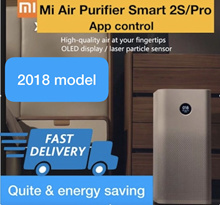 ˆˆLocal Sellerˆˆ RDY STOCK 2018 New ModelOLED Display Xiaomi Air Purifier 2S  PRO Mi Home -App