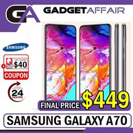 (1 Year Local Warranty) Samsung A70 6GB + 128GB (Local Set)