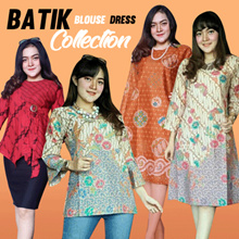 SUPERSALE!Premium Batik - Atasan Blouse Batik Kimono Dress Tunik Batik Wanita!100% CUSTOMERSATISFIED