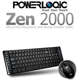 Powerlogic Zen 2000 Keyboard + Mouse- Hitam