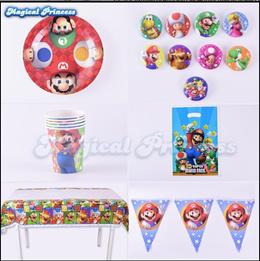 Super Mary Day Party plastic gift bag Super Mario cartoon return bag 10