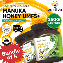 ★SALE★Bundle of  4★  UMF 5+ JADE VALLEY PREMIUM MANUKA HONEY 250G★ FREE DELIVERY ★